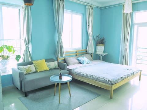 海味  暖冬特惠三亚大东海中心地段近海5分钟宜家独立房源一居室