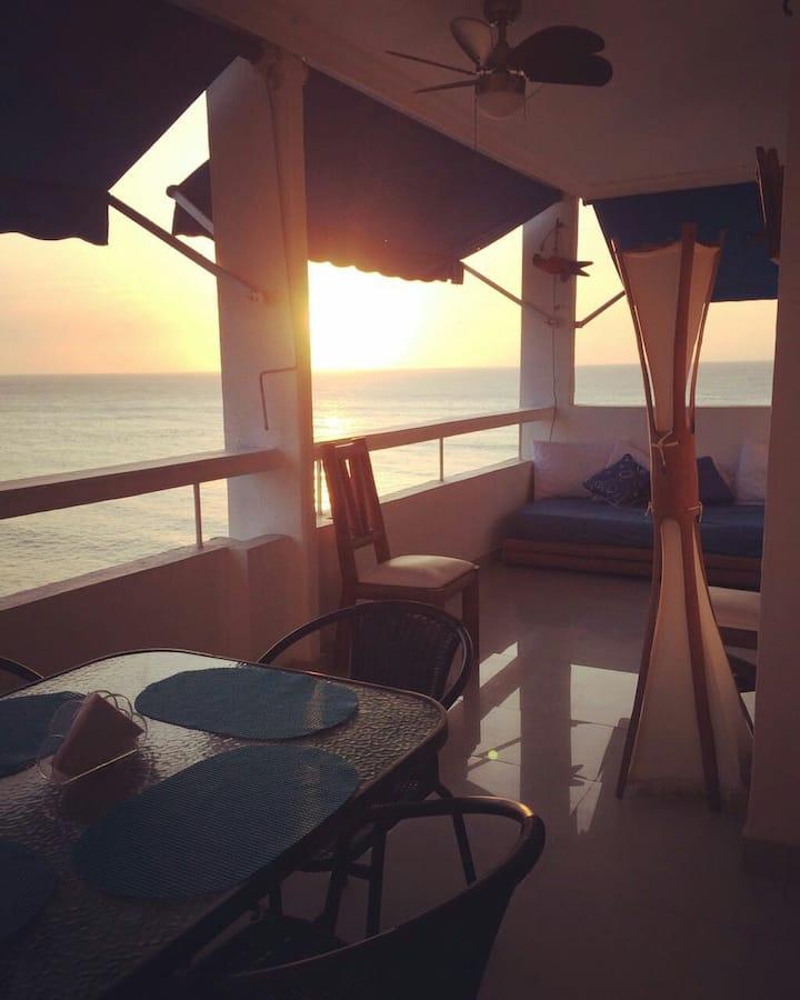 apartamentocartagena con espectacular vista al mar
