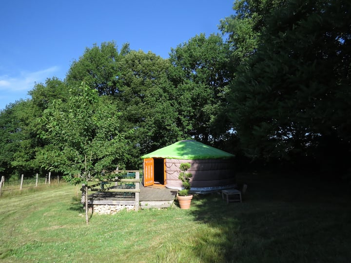 Yurt-Romantic-Ensuite-Countryside view