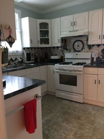 Kitchen - includes refrigerator and microwave