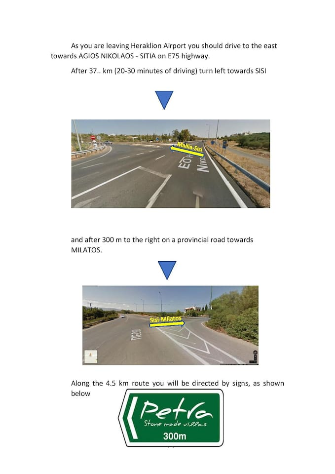 DRIVING DIRECTIONS 1/2