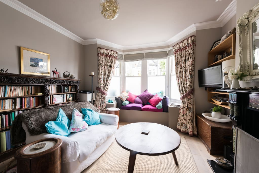 Living room from French doors