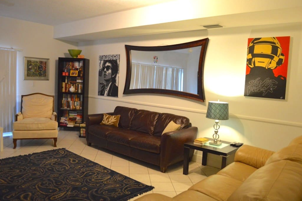 Living room upon entering.