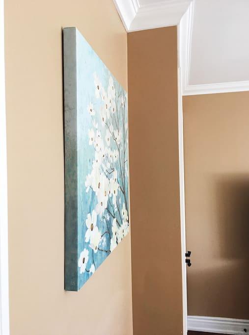 Nice paint and beautiful wall