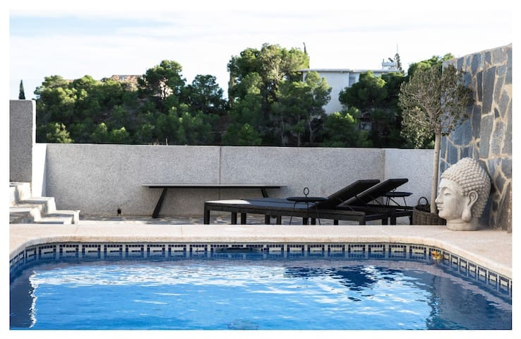 Nordic pool villa in Coveta Fuma with sea view