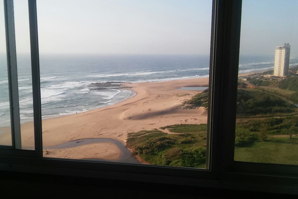 Window beach view