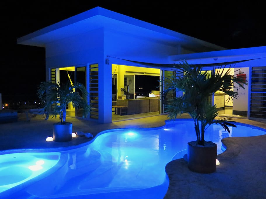 Funky pool night lights
