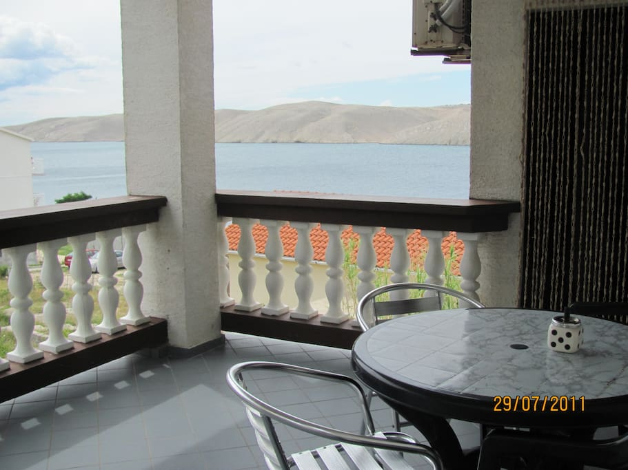View from terrace B ap. and entrance to apartment.
