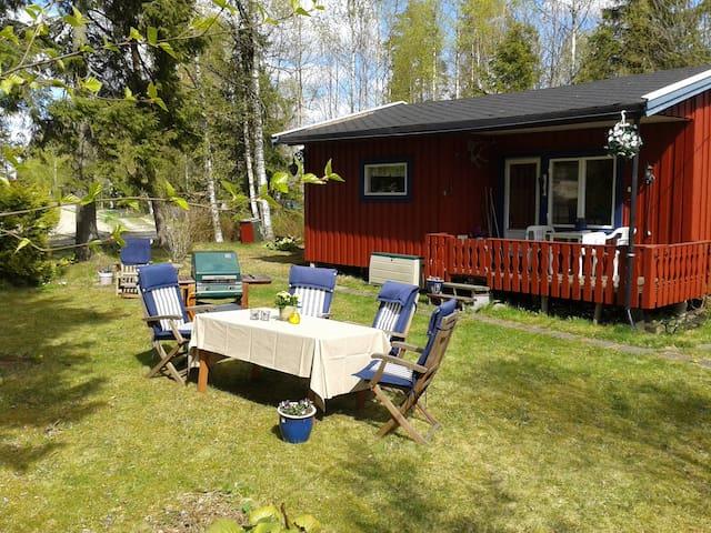 4.pers Norwegian style cabin, free Wifi, near Oslo - Hemnes - Mökki