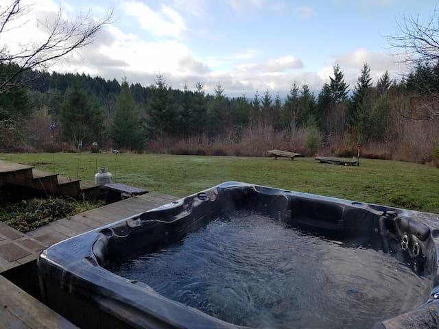 New hot tub, installed December 2018.