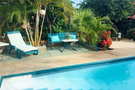 Idyllic Villa-Pool-Lush Garden 2 (the Pink Room) - Puerto Escondido