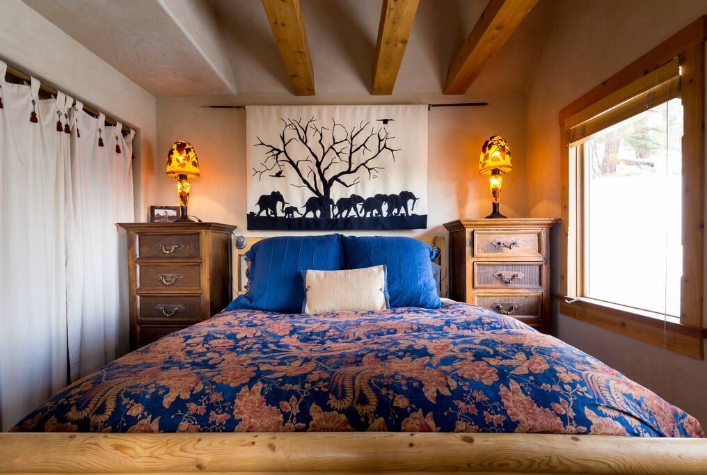 master bedroom, first floor, opens to the deck