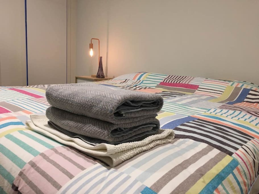 All bed linen and towel are provided