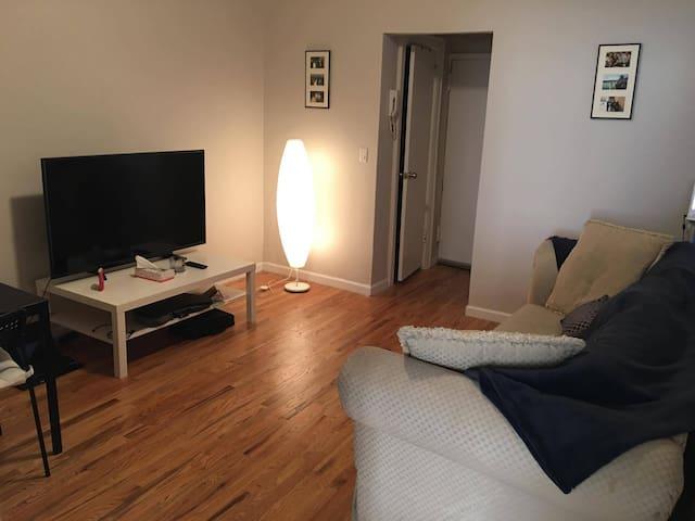 Cosy 1 bedroom apartment in Astoria 퀸즈 Queens 의 아파트에서 살아