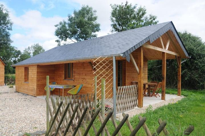 Cottage:chalet de charme,piscine couverte,chauffée