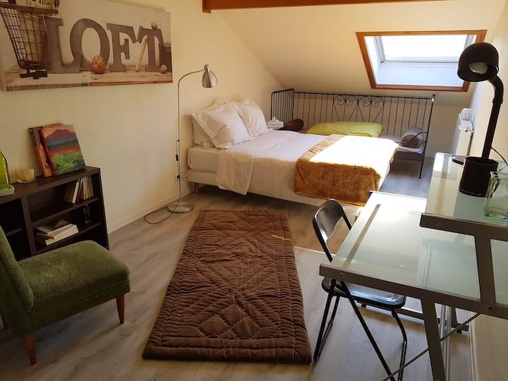 Belle chambre, aux portes de Genève.