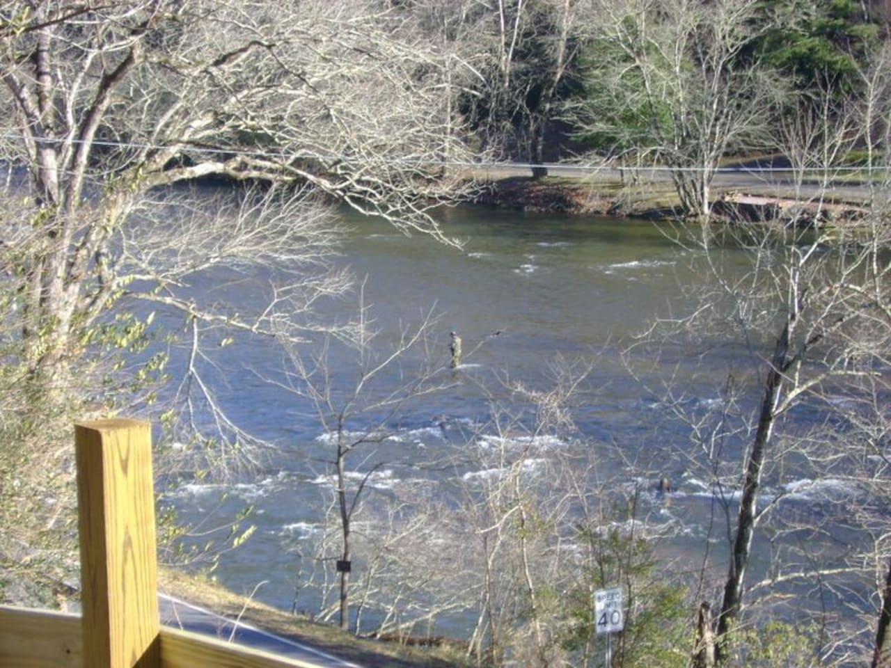 View of Tuckaseegee River from the cabin