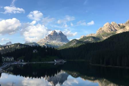 Spectacular view Misurina Lake