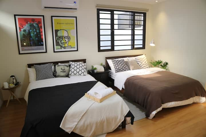 Private Family Room with Bath near Maginhawa
