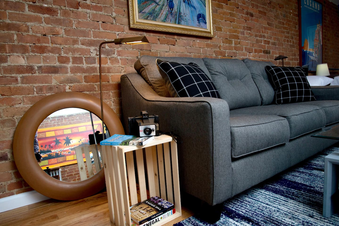 Settle into our softly upholstered sofa and click into HBO, Show Time or Netflix after a day exploring the city