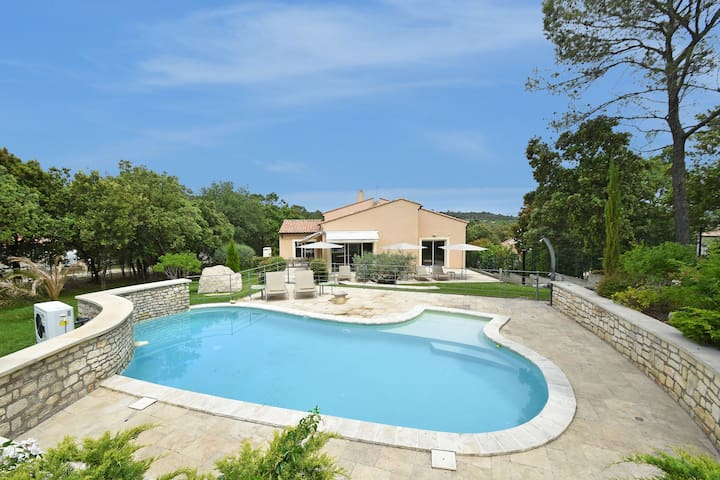 Surprisingly designed luxury villa with heated private pool within walking distance village