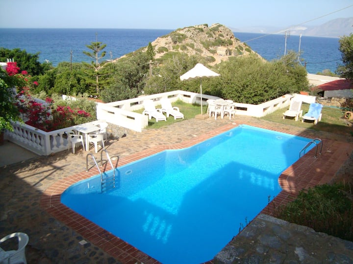 Apartment with one bedroom in Ammoudara, with shared pool, balcony and WiFi - 100 m from the beach