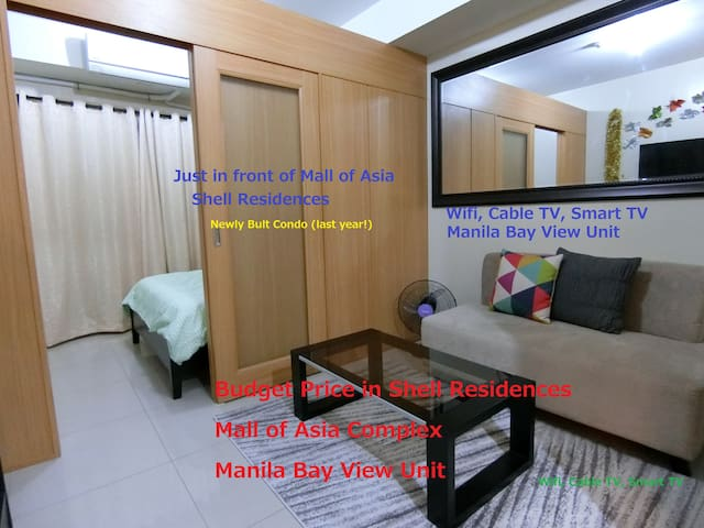 * Promo!! * @ MOA Shell Res. 30sqm Manila Bay View - Pasay City - Appartement