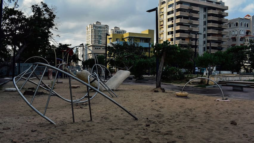 Playground in Condado beach.