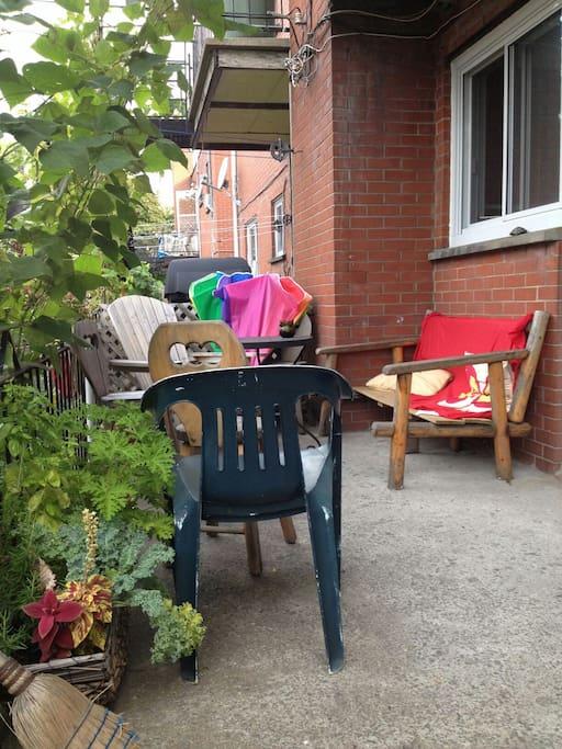 le balcon en été