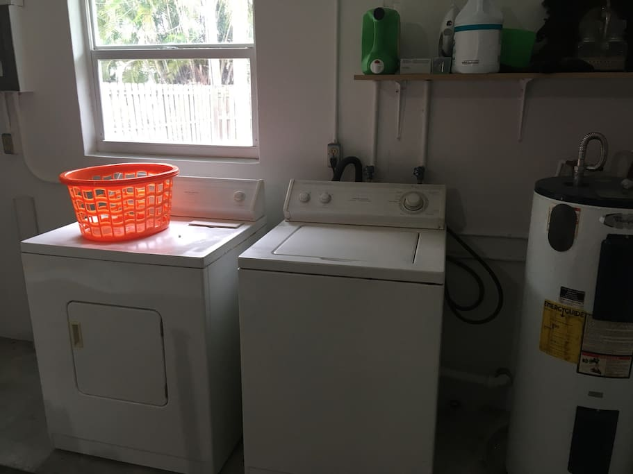 Laundry for guest use