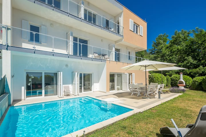 Top sea view villa St. Petar for luxury vacation