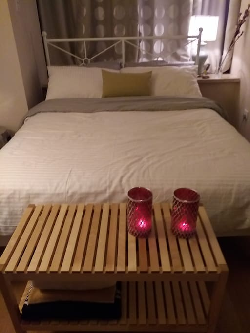Full-sized bed, western (soft) mattress