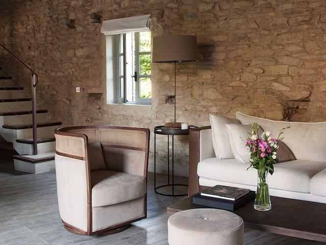 Gîte-Apartamento-Baño con bañera-Vista al Jardín-Loft