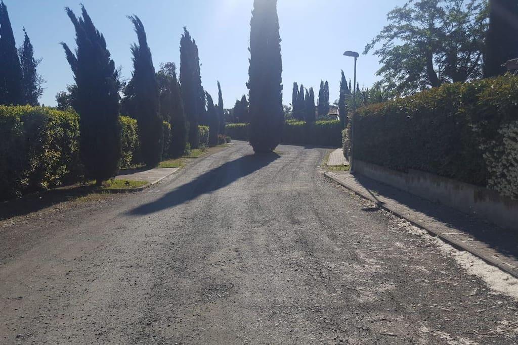 Viale di ingressso al complesso dove è inserita la nostra abitazione