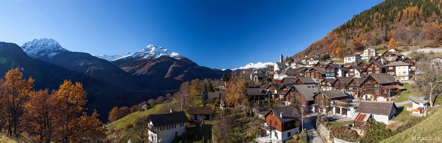 Appartamento nel cuore delle Alpi Svizzere (2Pers)