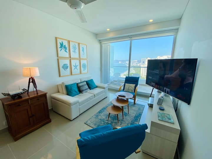 Stunning 1 Bedroom Apartment with Ocean View