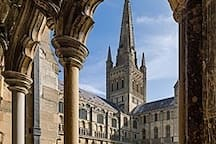At the bottom of the lane a few minutes walk from the apartment is this beautiful cathedral with is huge spire and Peregrine Falcons. Evensong is ab experience not to be missed with one of the best cathedral choirs in the country.