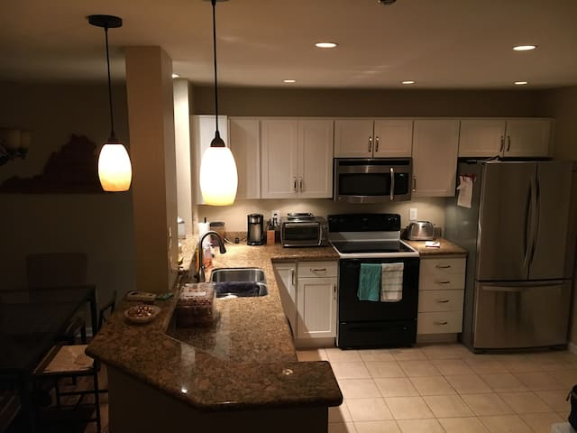 Private rm with full bath- central location
