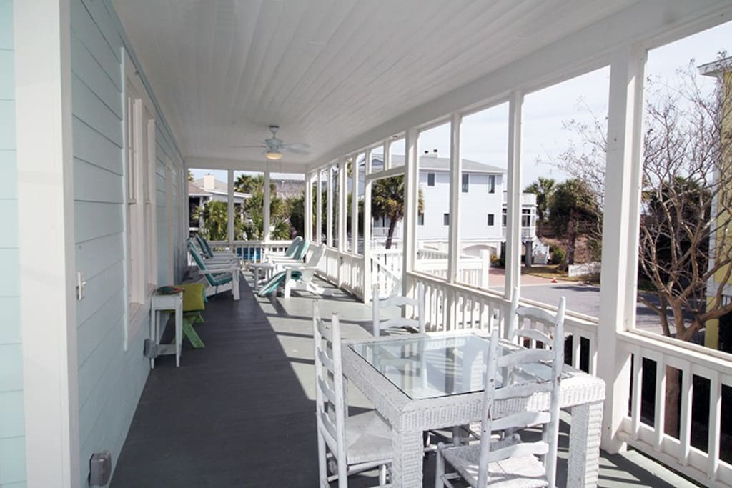Enjoy the Ocean Breezes and Sounds of the Surf from your Large Front Porch