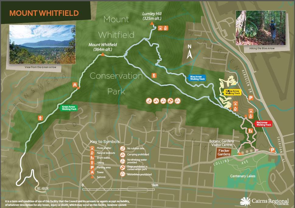 Rainforest walking tracks within less than 500m walk