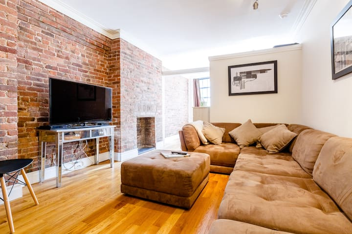 Nolita gem with massive couch for extra sleepers!