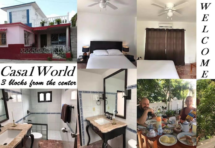 Casa1World 3 blocks from the Center + WIFI Bed2