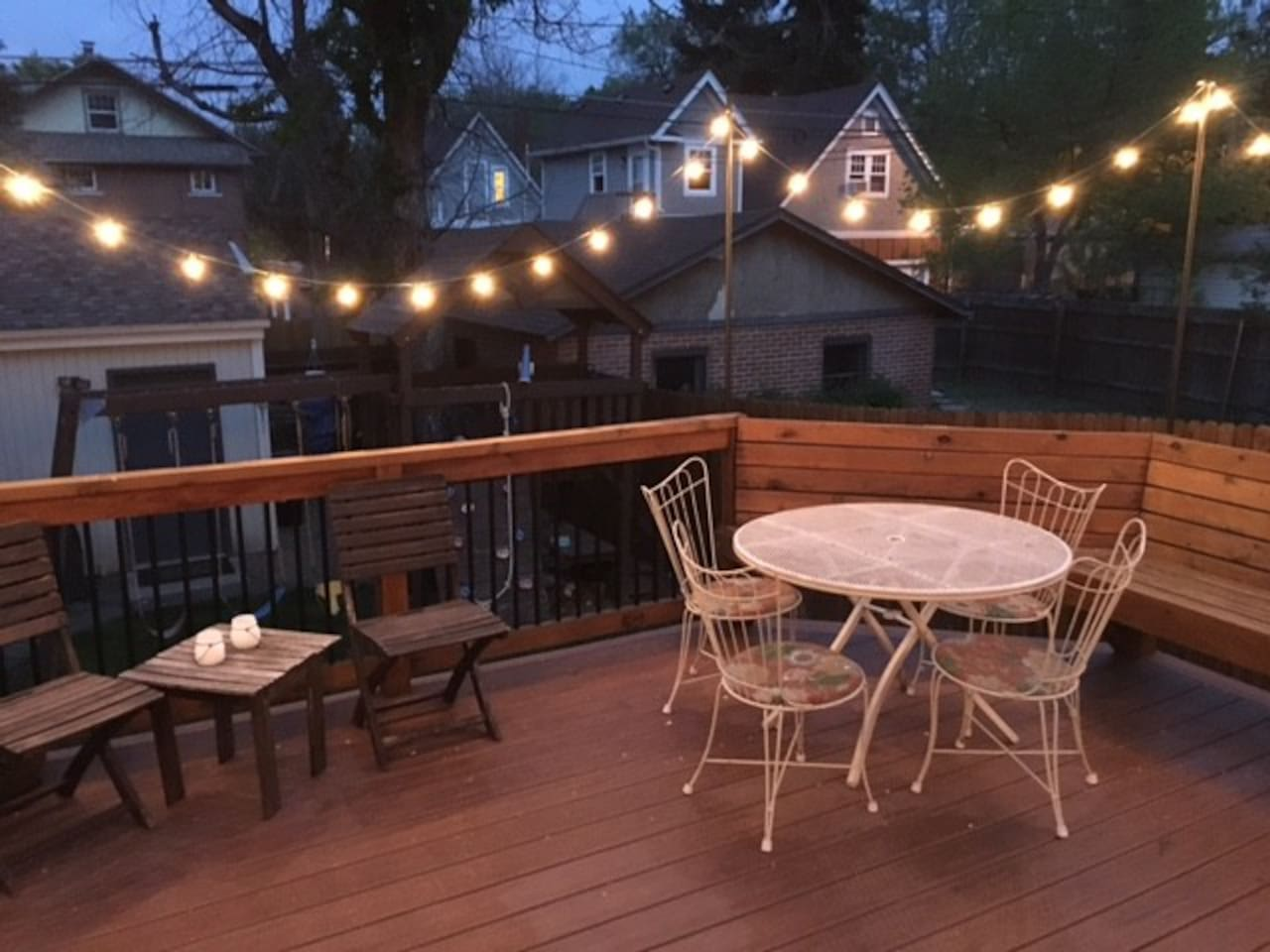 Deck right off the kitchen/dining room.  Fantastic for hanging out in the morning and evening.