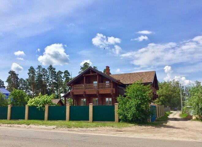Уютный коттедж с баней на р.Волга.