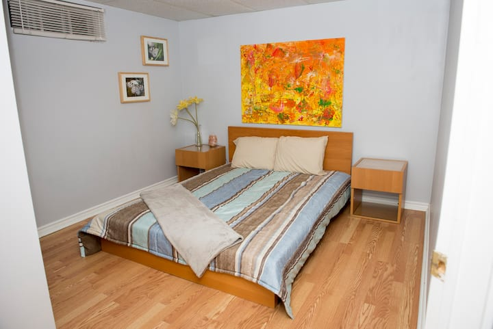 Basement Apt with Laundry & Close to Hospitals
