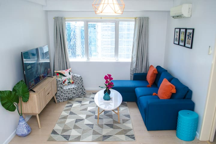Boutique Two Bed Apartment BGC, Fast Wifi @indigo