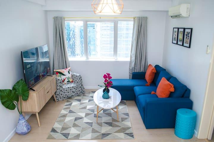 Boutique Two Bed Apartment BGC, Fast Wifi @indigo