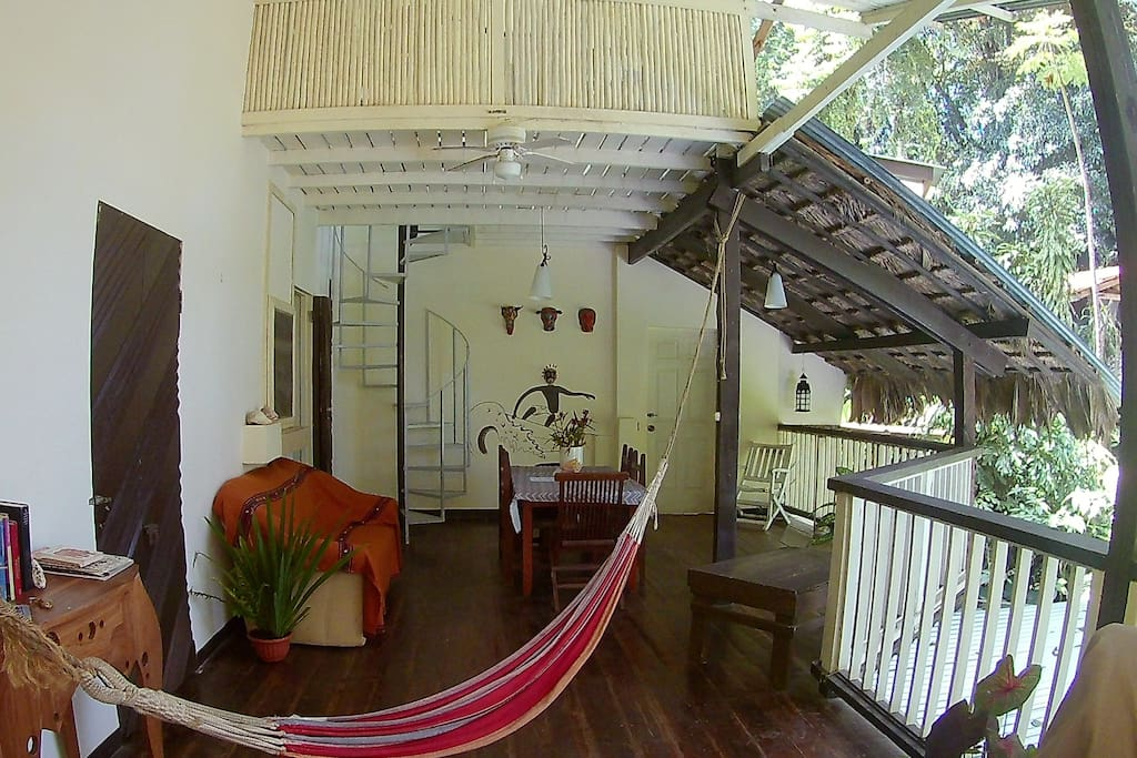 Extended living and dining area