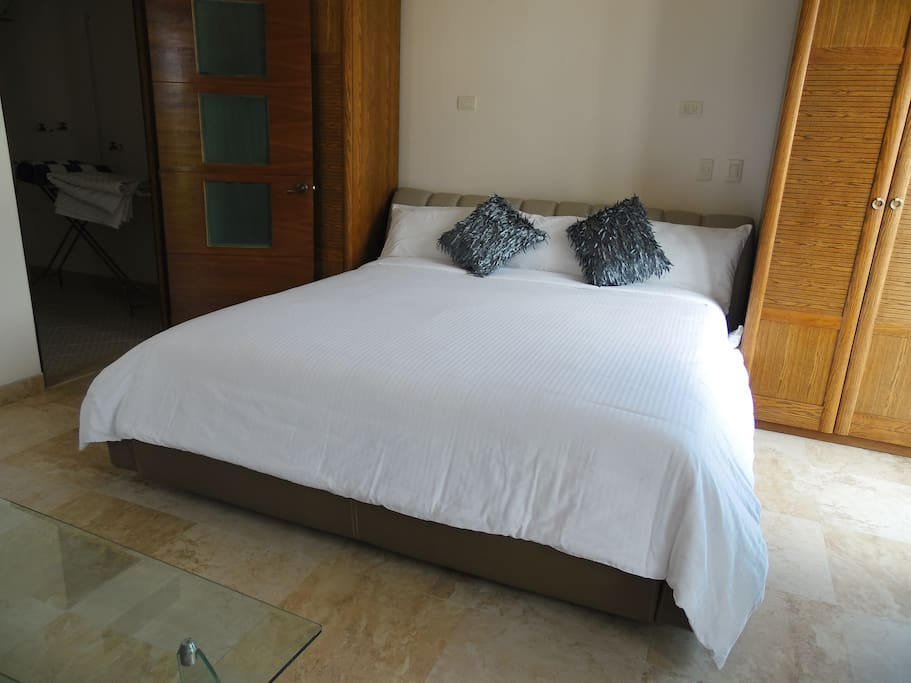 King Size bed in the main Bedroom