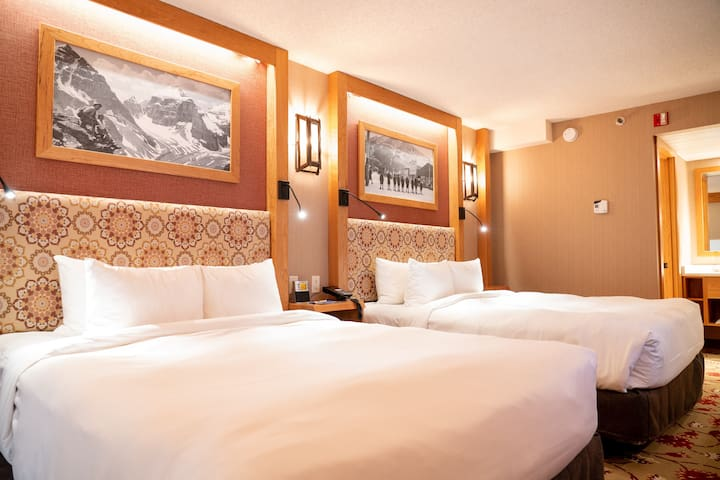 Drift off to sleep in the plush queen beds, perfect for a vacation with close friends and family!